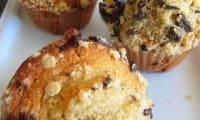 Muffins à la fève tonka, crumble chocolat