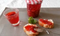 Confiture fraises tomates basilic