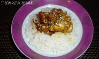 Poulet à la chinoise et son riz au sésame