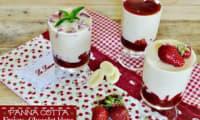 Panna cotta chocolat blanc aux fraises
