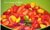 salade de fraises et nectarines à la verveine