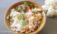 Taboulé de chou-fleur, tomates multicolores et basilic