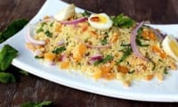 Salade semoule fruits secs et menthe