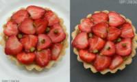 Tarte fraises et petits suisses