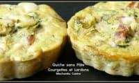 Mini quiches sans pâte aux lardons et courgettes