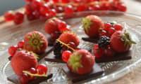 Mignardises chocolat et fruits rouges