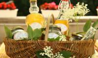 Vin de fleurs Sureau, sirop de fleurs Sureau et gelée de fleurs de Sureau
