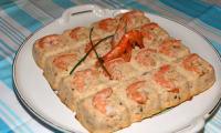 Terrine de saumon aux crevettes roses