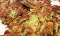 Les galettes de pommes de terre aux courgettes