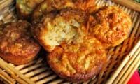 Muffins aux pommes, flocons d'avoine et fève tonka