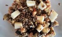 Salade de céréales,pois chiches et aubergine