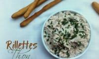 Rillettes de thon à la ciboulette