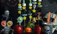 Brochettes de bonbons pour Halloween