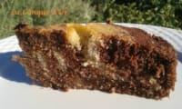 Gâteau marbré courge cacao