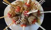 Sucettes de fraises pralinées au chocolat