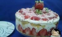Trifle aux fraises et Baileys