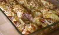Saucisse de Morteau en gratin de pommes de terre