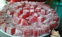 Pâte de fruits fait maison aux fraises congelées