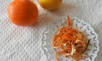 Zestes d'agrumes séchés au four