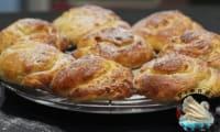 Tourbillons de pains aux raisins à l'ancienne