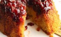 Steam pudding aux coings confits et aux canneberges