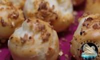 Chouquettes aux pépites de praliné caramélisé