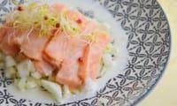 Ceviche de saumon sauce vodka