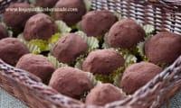 Truffes au chocolat, crème de marron