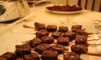 Chocolat au nougat et aux amandes