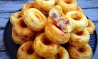 Donuts salés aux lardons et fromage