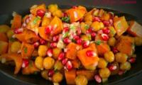 Salade de patate douce aux pois Chiche et Grenade