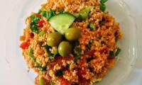 Salade de boulgour et lentilles rouges