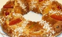 Gâteau des rois aux fruits confits