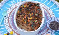 Bread pudding aux M&M's