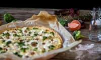 Tarte brocolis fromages et noix