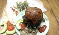 Burgers vegan aux champignons portobello