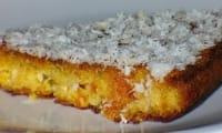 Gâteau au manioc et noix de coco, sans gluten