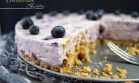 Cheesecake myrtilles
