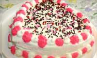 Gâteau d'anniversaire au chocolat blanc
