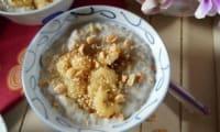 Bananes au lait de coco et perles de tapioca