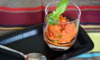 Granité de tomates poivrons (vidéo)