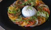 Carpaccio de tomates mozzarella (vidéo)
