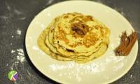 Pancakes banane, oeufs sans gluten, sans lactose, sans farine