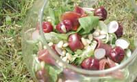 Salade estivale magret de canard et cerises