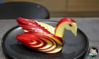 Comment faire un cygne avec une pomme