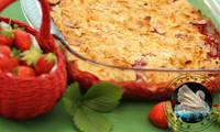 Crumble aux fraises et amandes effilées en vidéo