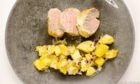 Filet mignon de porc à la moutarde au safran