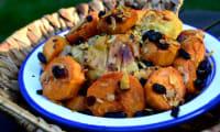 Poulet parfumé et patate douce caramélisée