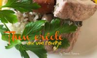 Le thon au vin rouge à la créole