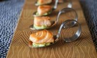 Crème d'avocat au wasabi